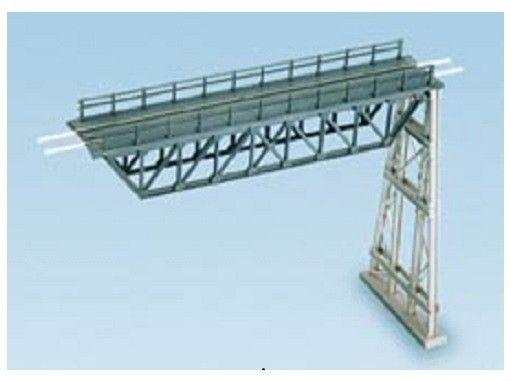 T48 Post Modular Covered Twin Track Footbridge N Gauge Plastic Kit Ratio 248