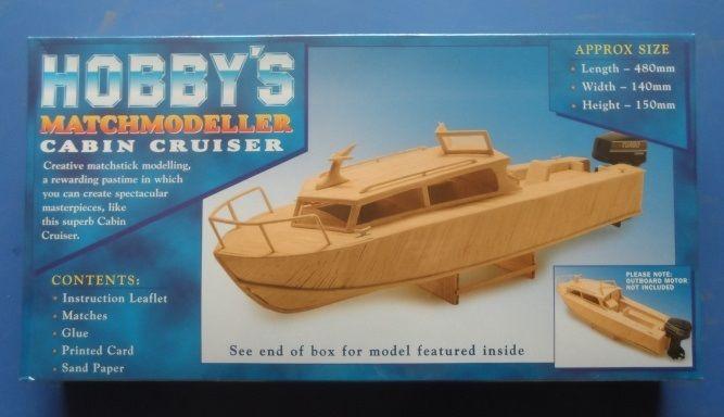 Hobby's MM24 Matchmodeller Cabin Cruiser Matchstick Model Boat Kit