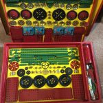 1950-Vintage-Meccano-Construction-Set-8-Unused-Still-Wired-into-Original-Box-360952142843