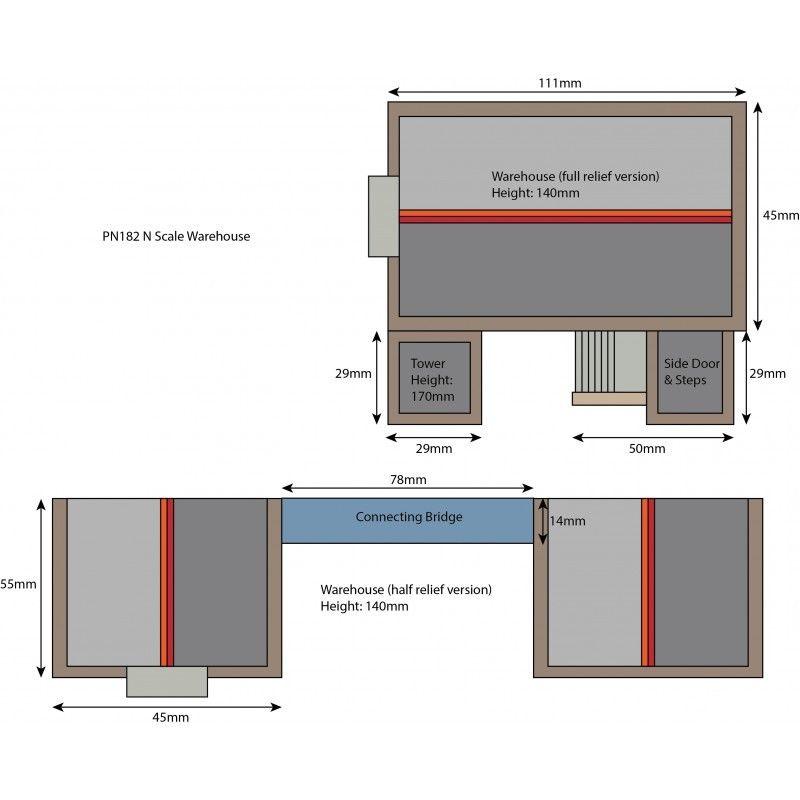 Red Brick Warehouse Die Cut Card Kit N Gauge Metcalfe PN182 1st Class Post