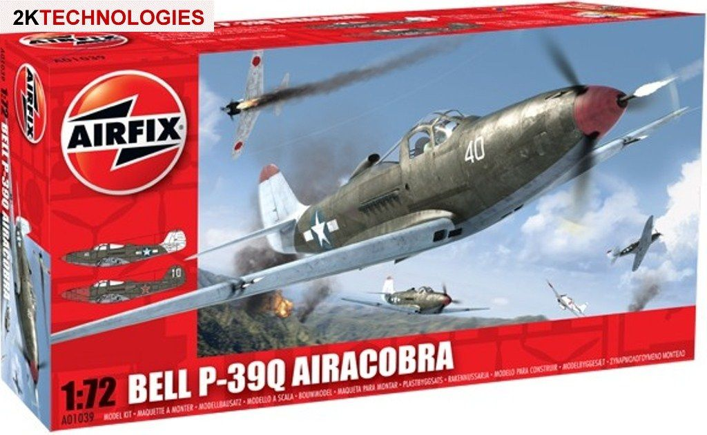 Airfix A01039 Bell P-39Q Airacobra Aircraft Kit 1/72nd Scale FREE 1st post