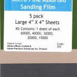 Albion-Alloys-353-5-Sheet-4-x-4-Assortment-Micro-Fine-Sanding-Film-Kit-New-171270585304