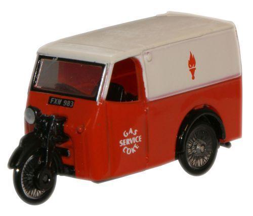 Oxford 76TV004 Tricycle Van Gas & Coke Service '00' Gauge=1/76 Scale New in  Case