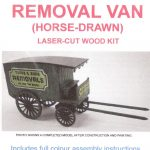 Ancorton-95890-Horse-Drawn-Removal-Van-00-Gauge-Wooden-Model-Kit-1st-Class-Post-361143811596