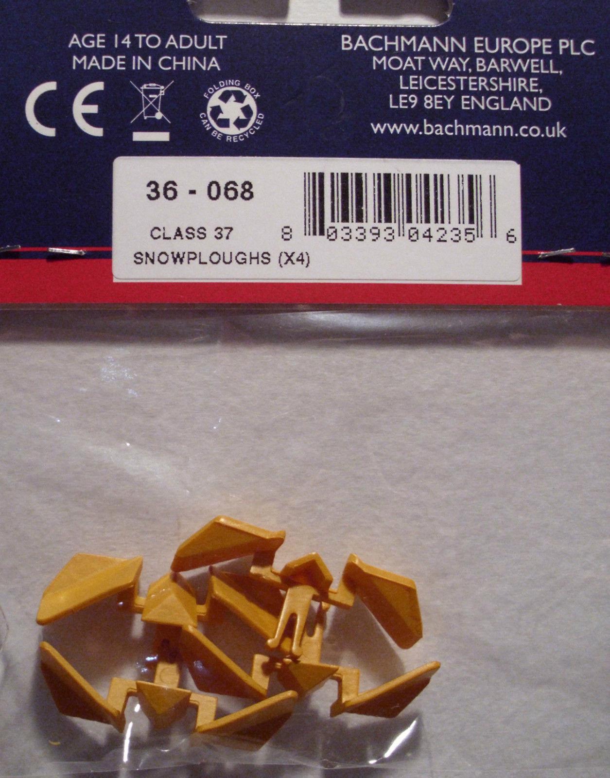 Bachmann 36-068 - Spare Parts - 4 x Class 37 Yellow Snowploughs - 1st Class  Post