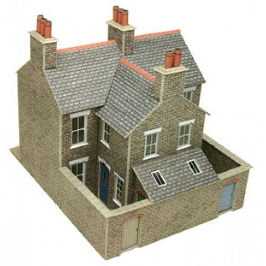 Metcalfe PO262 Stone Terraced Houses  Die Cut Card Kit 00 Gauge