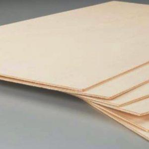 "1//8/"" x 12/"" x 12/"" Lite Light Plywood 3.2mm x 300mm x 300mm sheet plywood"