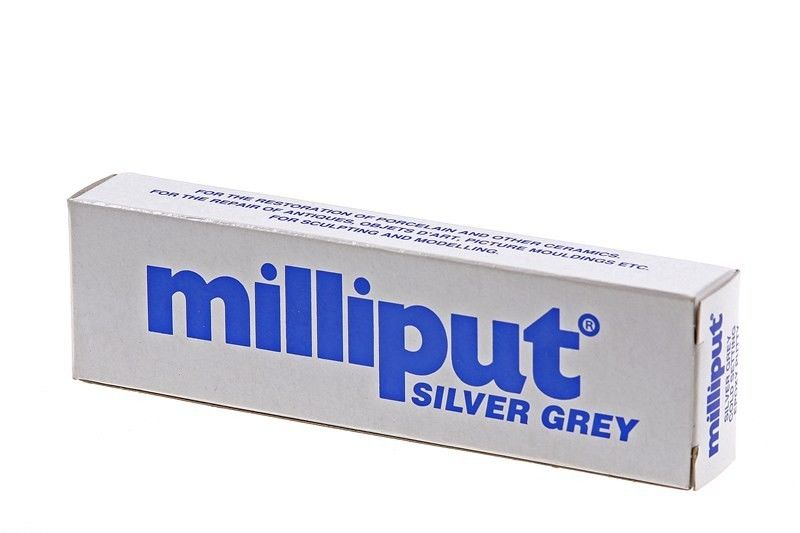 Milliput Silvergrey Colour 2 Part Epoxy Putty 2 Stick 113g