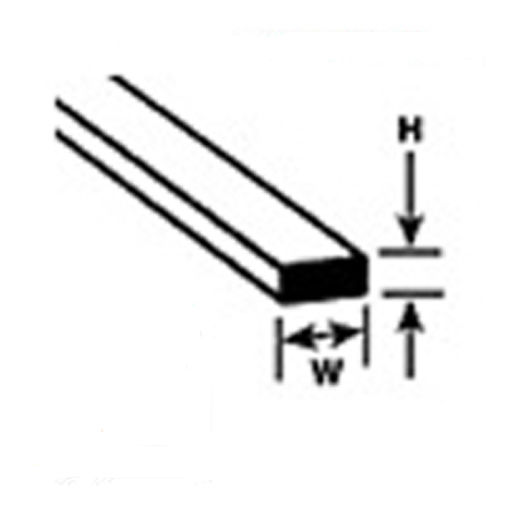 90501 10 x 1.2mm x 1.2mm x  254mm long Lengths Angles Plastruct Styrene AFS-1
